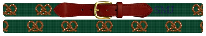Perfect Pretzel Needlepoint Belt