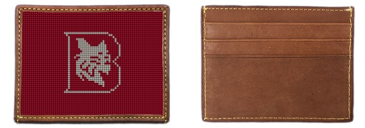 Bates College Needlepoint Card Wallet Canvas