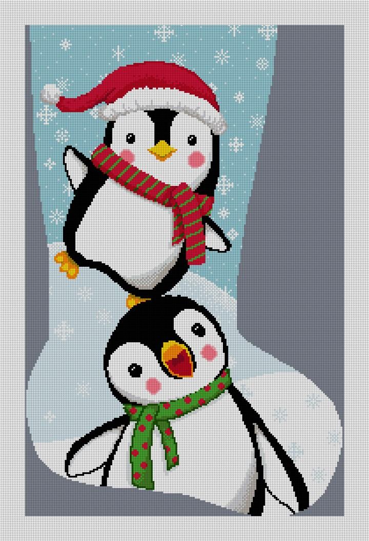 Winter Fun Stocking Needlepoint Canvas