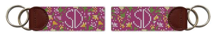 Petite Bouquet Needlepoint Key Fob Canvas