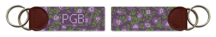 Lavender Lilacs Needlepoint Key Fob