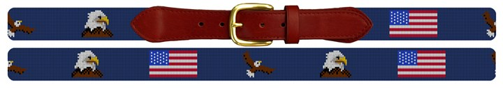 National Pride Needlepoint Belt