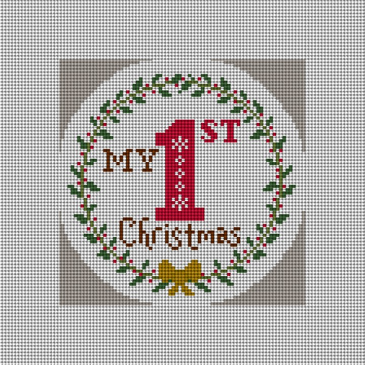 My First Christmas Needlepoint Ornament Canvas