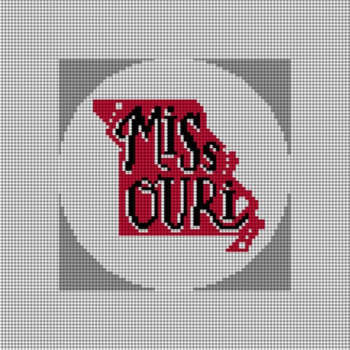 Missouri Needlepoint Ornament Canvas