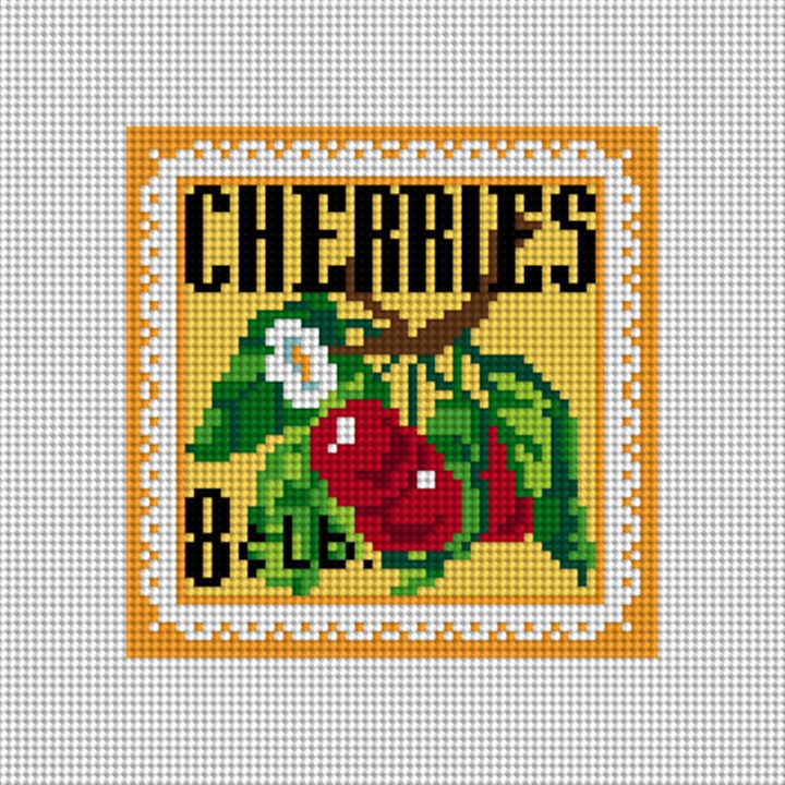 Cheery Cherries Needlepoint Canvas