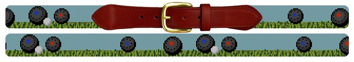 Lawn Bowling Needlepoint Belt Canvas