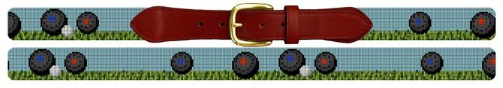 Lawn Bowling Needlepoint Belt