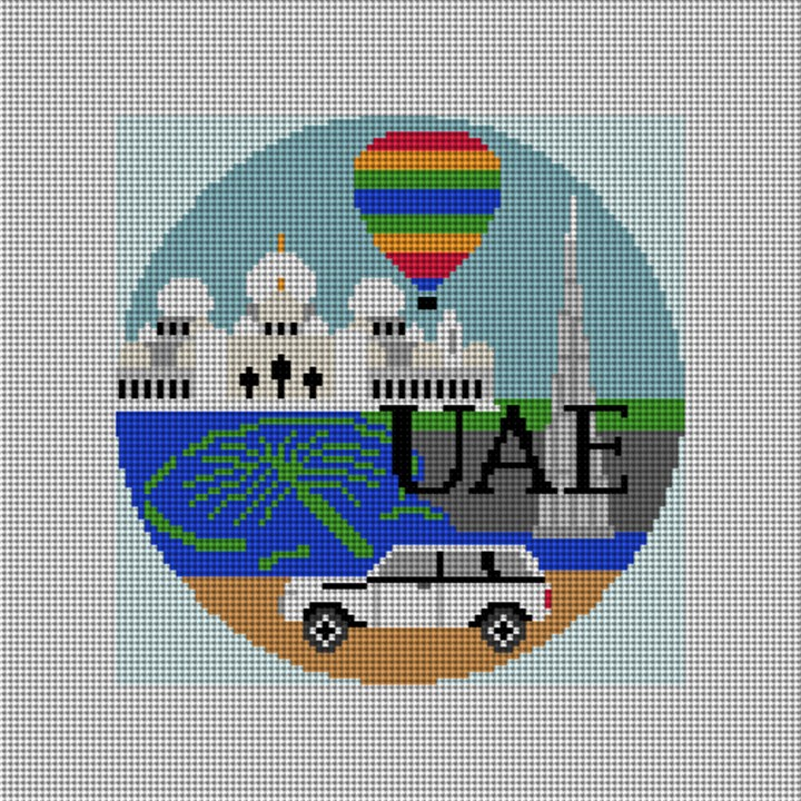 UAE Needlepoint Ornament Canvas