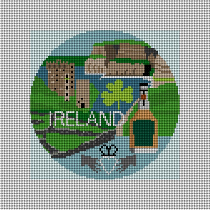 Ireland Needlepoint Ornament Canvas