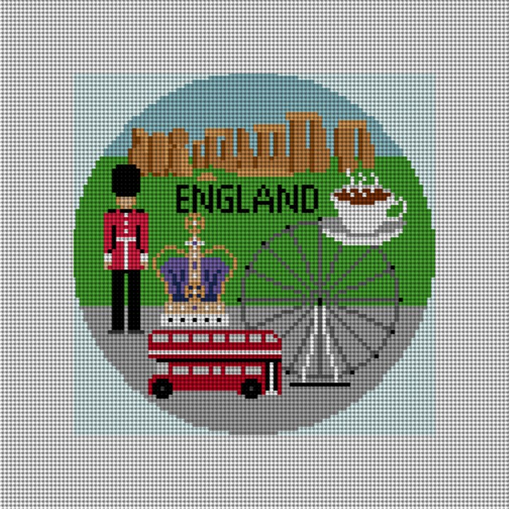 England Needlepoint Ornament Canvas