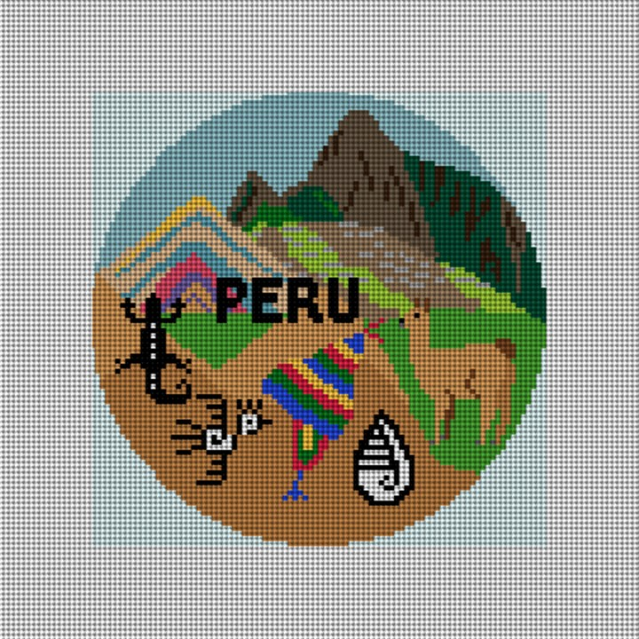 Peru Needlepoint Ornament Canvas