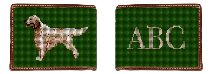 English Setter Needlepoint Wallet