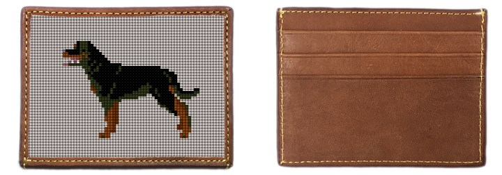 Rottweiler Needlepoint Card Wallet