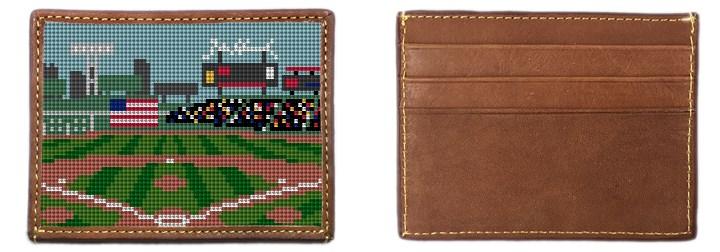 Baseball Field Needlepoint Card Wallet
