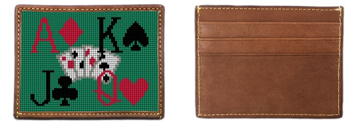 Poker Needlepoint Card Wallet Canvas