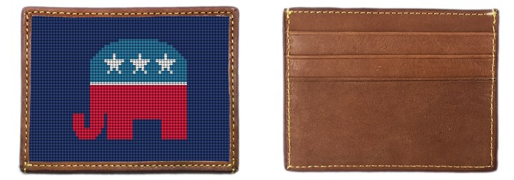Republican Needlepoint Card Wallet