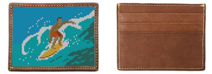 Surfing Needlepoint Card Wallet Canvas