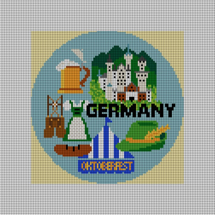 Germany Needlepoint Ornament Canvas