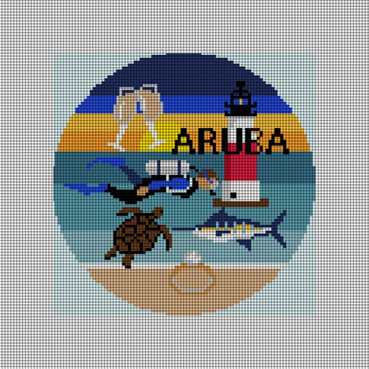 Aruba Needlepoint Ornament Canvas