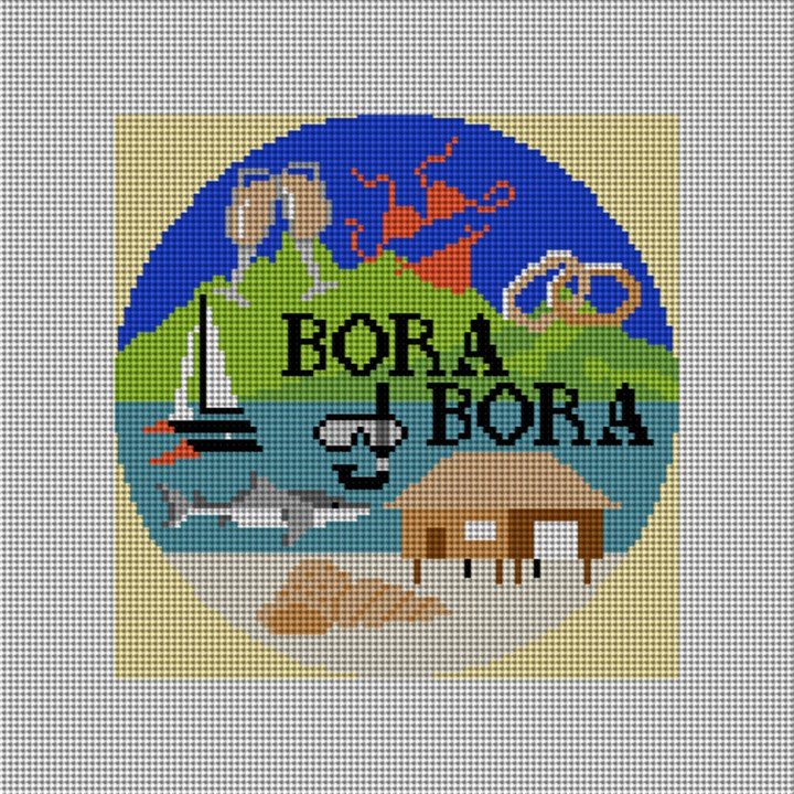 Bora Bora Needlepoint Ornament Canvas