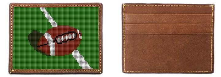 Football Needlepoint Card Wallet Canvas
