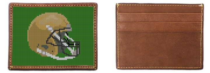 Custom Football Needlepoint Card Wallet Canvas