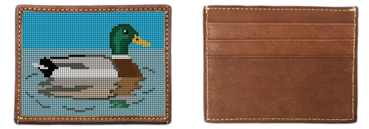 Mallard Needlepoint Card Wallet Canvas