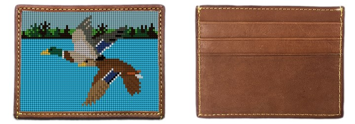 Flying Mallards Needlepoint Card Wallet