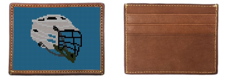 Lacrosse Helmet Needlepoint Card Wallet Canvas