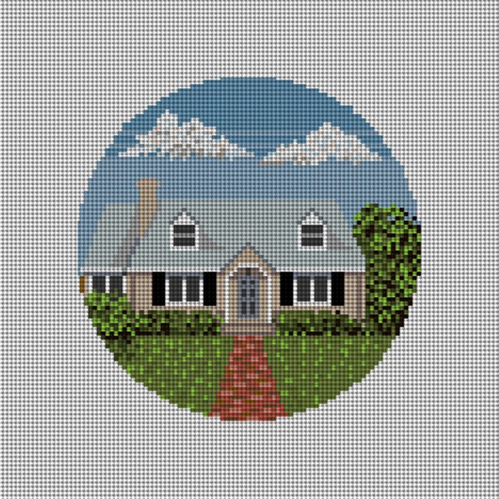 Custom Home Needlepoint Ornament Canvas