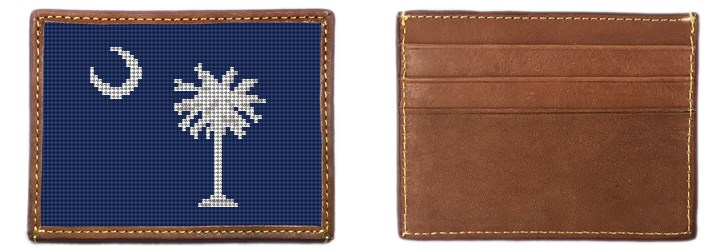 South Carolina Needlepoint Card Wallet