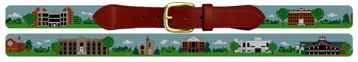Canton New York Landscape Needlepoint Belt Canvas