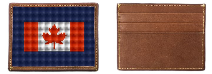 Your Favorite Flag Needlepoint Card Wallet Canvas