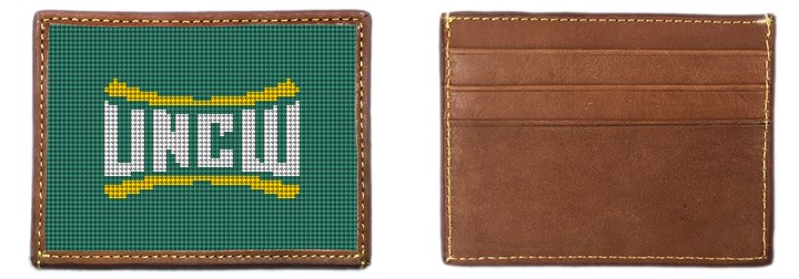 UNC Wilmington Needlepoint Card Wallet