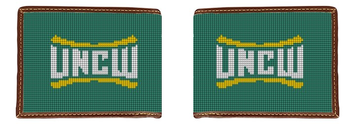 UNC Wilmington Needlepoint Wallet Canvas