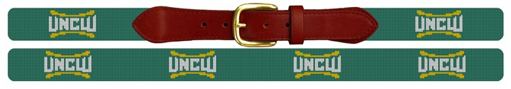 UNC Wilmington Needlepoint Belt