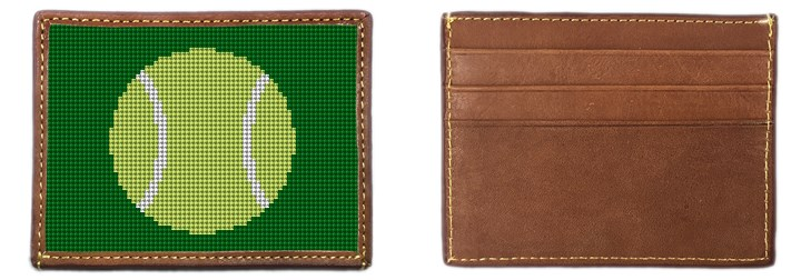 Tennis Ball Needlepoint Card Wallet Canvas