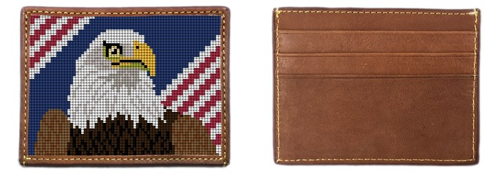 Eagle Needlepoint Card Wallet Canvas