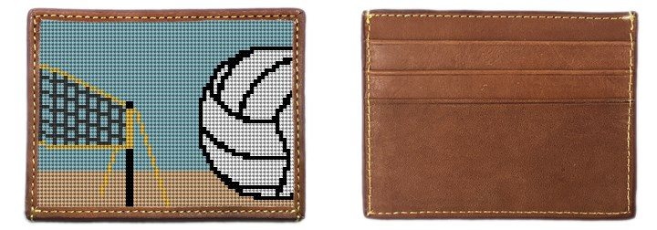 Volleyball Needlepoint Card Wallet Canvas