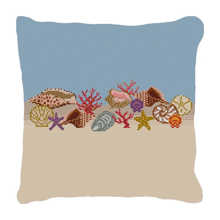 Seashell Needlepoint Pillow Canvas