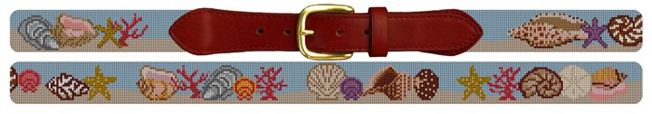 Seashell Needlepoint Belt