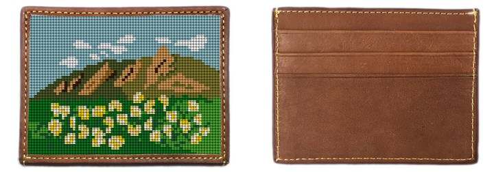 Boulder Flat Irons Needlepoint Card Wallet Canvas