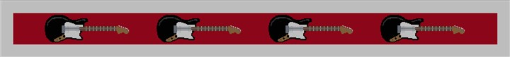 Electric Guitar Needlepoint Guitar Strap Canvas