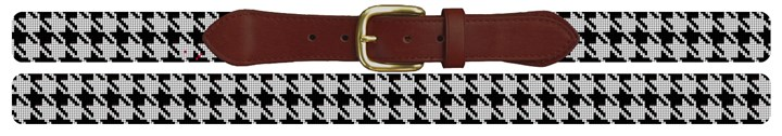 Handsome Houndstooth Needlepoint Belt