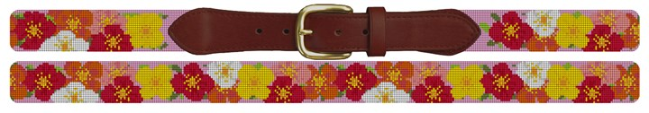 Plentiful Poppies Needlepoint Belt