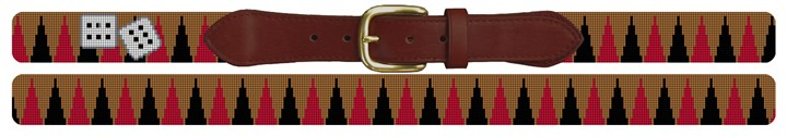 Backgammon Needlepoint Belt