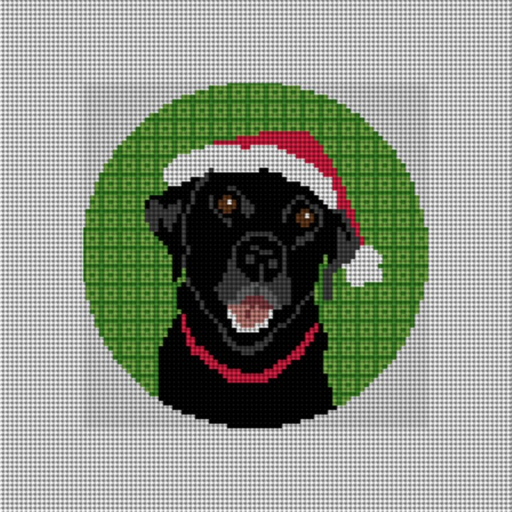 Christmas Lab Needlepoint Ornament Canvas