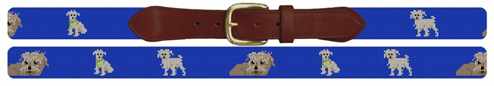 Long Haired Wire Terrier Needlepoint Belt
