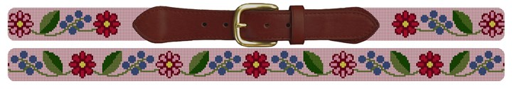 Fresh Floral Needlepoint Belt