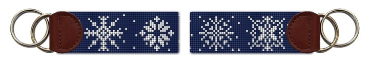 Snowflakes Needlepoint Key Fob